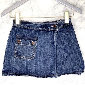 GIRLS LEVI STRAUSS Jean Wrap Skirt With Shorts